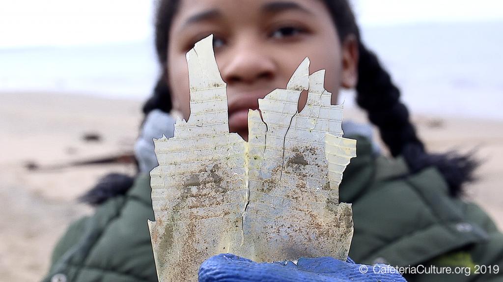 Microplastic Madness Girl holding plastic – Atsuko Satake Quirk